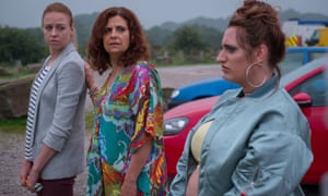 Ellie White, Rebecca Front and Lauren Socha in The Only One.