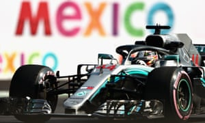 Lewis Hamilton gets acquainted with the circuit during the first free practice session for the Mexican Grand Prix.