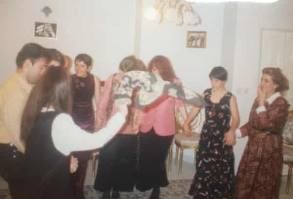 Arianne Shahvisi's Iranian relatives dancing at a party.