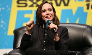 Ellen Page speaks at a panel discussion during South By Southwest at the Austin convention center on Saturday.