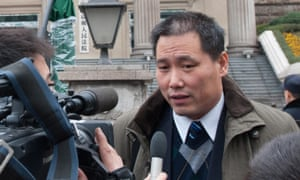 A photo from 2012 showing Chinese lawyer Pu Zhiqiang.