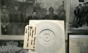 Undertones memorabilia at the Oh Yeah music centre, Belfast.