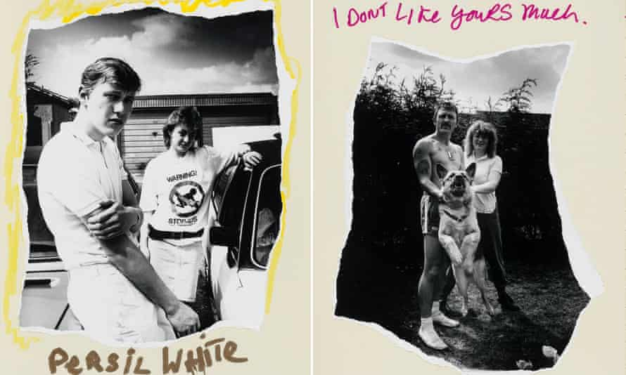 Two images from Chris Shaw's photobook Retrospecting Sandy Hill, taken on an Andover estate when he was at art college.