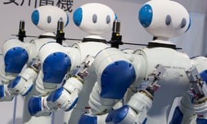 A robot exhibition in Tokyo, Japan.