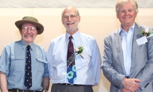 Jeffrey C Hall, Michael Rosbash and Michael W Young, who have been awarded the 2017 Nobel prize in Physiology or Medicine for 'their discoveries of molecular mechanisms controlling the circadian rhythm'.