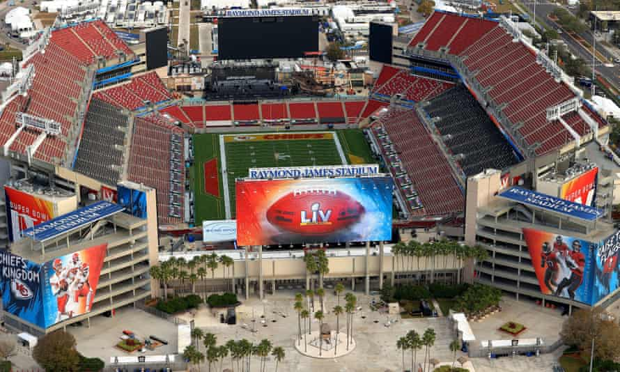 Raymond James Stadium will be at about a third of its usual capacity on Sunday