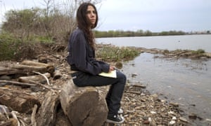 Note-taking … PJ Harvey in A Dog Called Money.