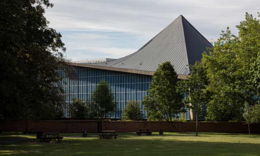 The distinctive curvaceous roof of the 1960s Commonwealth Institute, now the Design Museum.