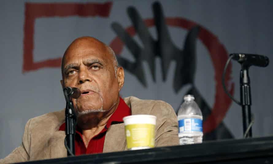In a picture from 2014, Robert Moses discusses the importance of Freedom Summer 1964 at Tougaloo College in Jackson, Mississippi.