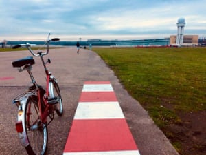 Preparing for take offTemplehof airport in Berlin used to be one of the worlds busiest airports. Now it is left abandoned, providing a vast playground for people to drive and ride, bikes and kite boards Photograph: georgiasharp/GuardianWitness