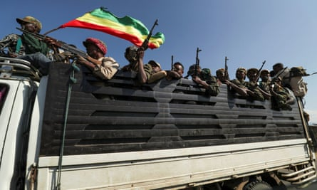 Amhara militias head to face the Tigray People's Liberation Front