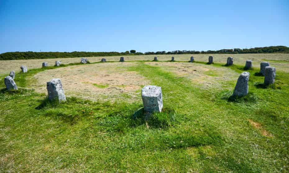 The Merry Maidens of Boleigh stone circle.