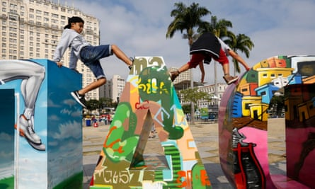 Adept at the spectacular, struggling with the everyday … the Olympic Boulevard in Rio.