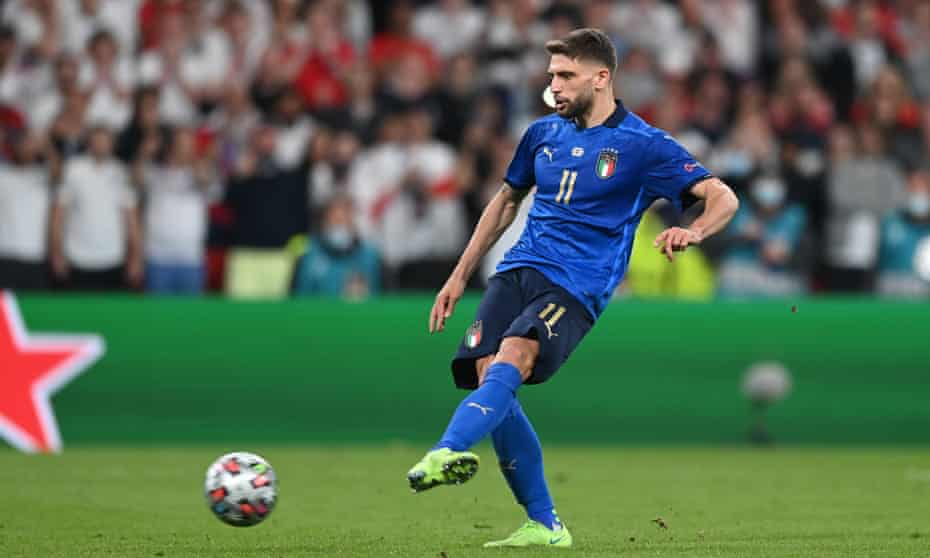 Domenico Berardi helped to swing the game Italy's way after his introduction and scored his penalty.