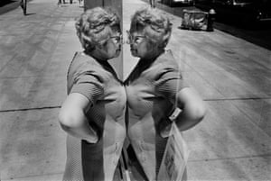 Richard Kalvar: New York City, 1969,Buy the printRichard Kalvar writes: 'New York, 1969. A woman obsessed. With her image in the mirror? With what she sees through the store window? Or maybe simply with the act of looking, like me ...'