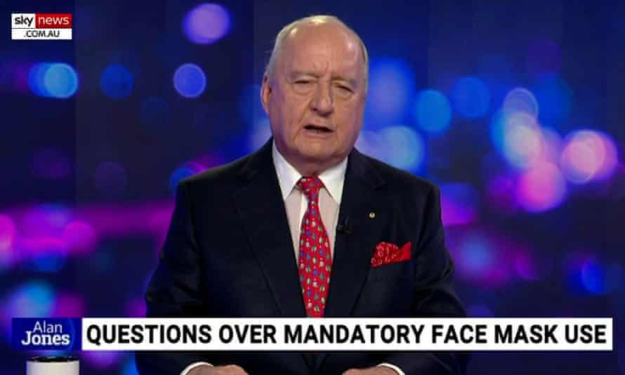 Among Sky News Australia's deleted videos is a segment by Alan Jones who calls Daniel Andrews' mask mandate a 'dreamt up draconian measure'.