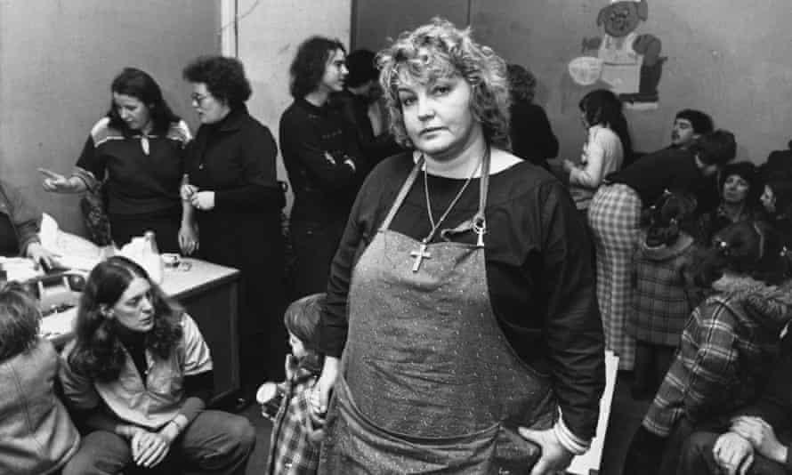 Refuge founder Erin Pizzey in London in 1978.