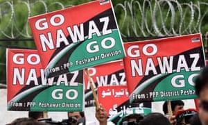 Protesters celebrate ousting of Nawaz Sharif, Pakistan's prime minister