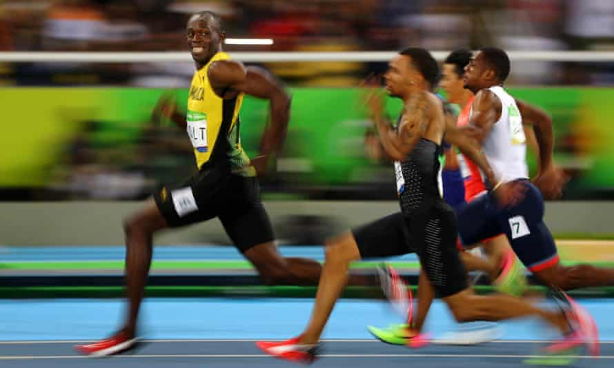 Bolt leaves the competition for dead at the 2016 Olympics in Rio de Janeiro.