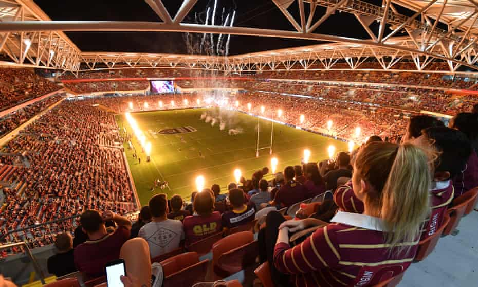A packed Suncorp stadium during the final game of the 2020 State of Origin series.