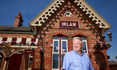 Neil McArthur outside Irlam station
