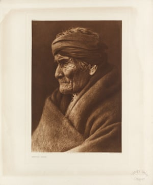 Geronimo, a prominent leader and medicine man of the Apache who became a celebrity in old age. The Apache are group of related tribes in south-western US