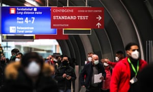 Frankfurt International Airport in Germany. Could a QR code open up the world? The small, tech-savvy Baltic EU member state of Estonia is working on a pilot project with the WHO on how a globally recognised electronic vaccine certificate might work