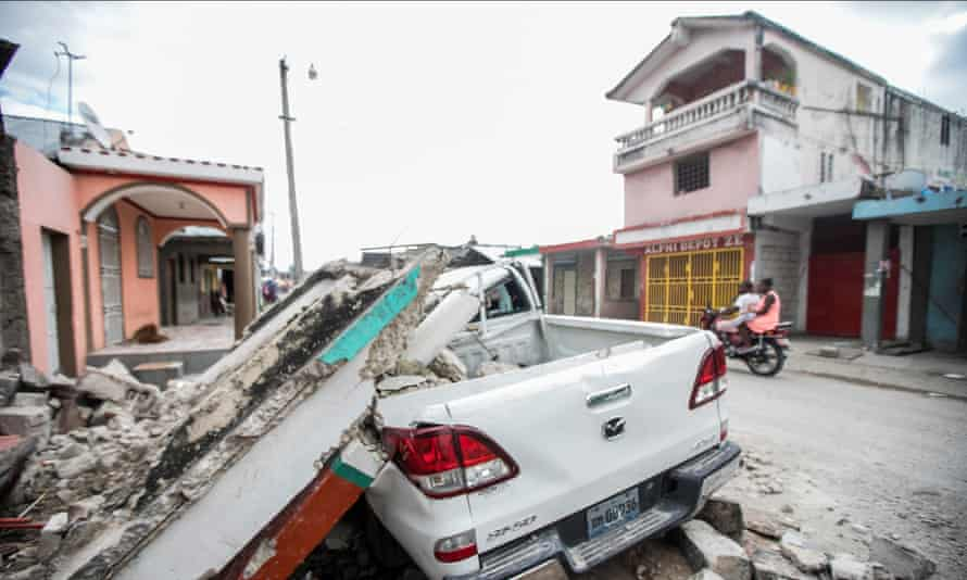 Damage caused by the earthquake, in Les Cayes, Haiti