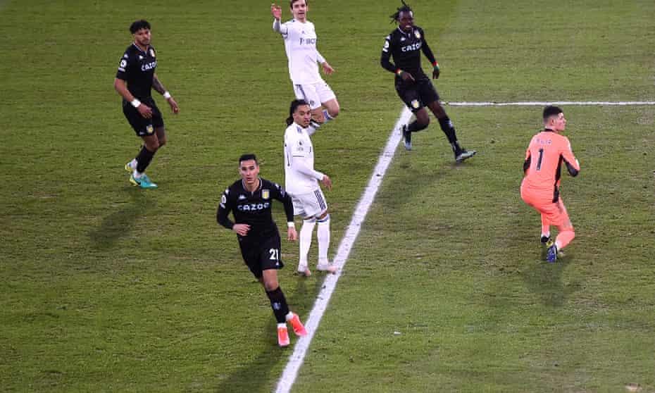 Anwar El Ghazi scored Aston Villa's winner against Leeds.