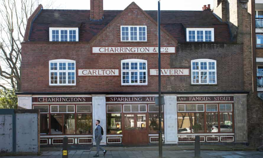The rebuilt Carlton Tavern, west London.