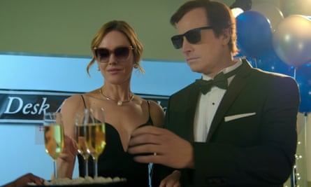 It takes two ... Erinn Hayes and Rob Huebel in Medical Police.