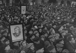 1930s – Nadezhda Krupskaya's funeral (Lenin's wife) in Moscow by Sergey KorshunovMari Burenkova, the project's manager, explains that users can search for photos by subject. They are also able to upload and share family archives, create their own online exhibitions from the published content and share these through social networks
