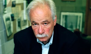 WG Sebald in his office at the UEA in Norwich.