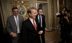 Kentucky Senator Rand Paul at the US capitol on Thursday night.