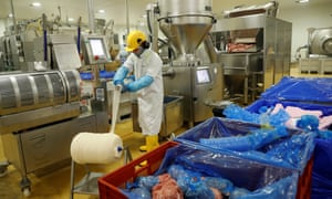 Meat being processed at a Cranswick plant in Milton Keynes.