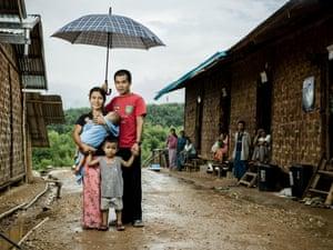 Family in Myanmar