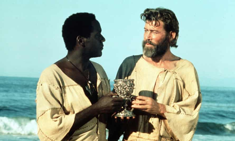 Savage philosophy … Richard Roundtree (left) in the title role of Man Friday (1975) with Peter O'Toole as Robinson Crusoe.