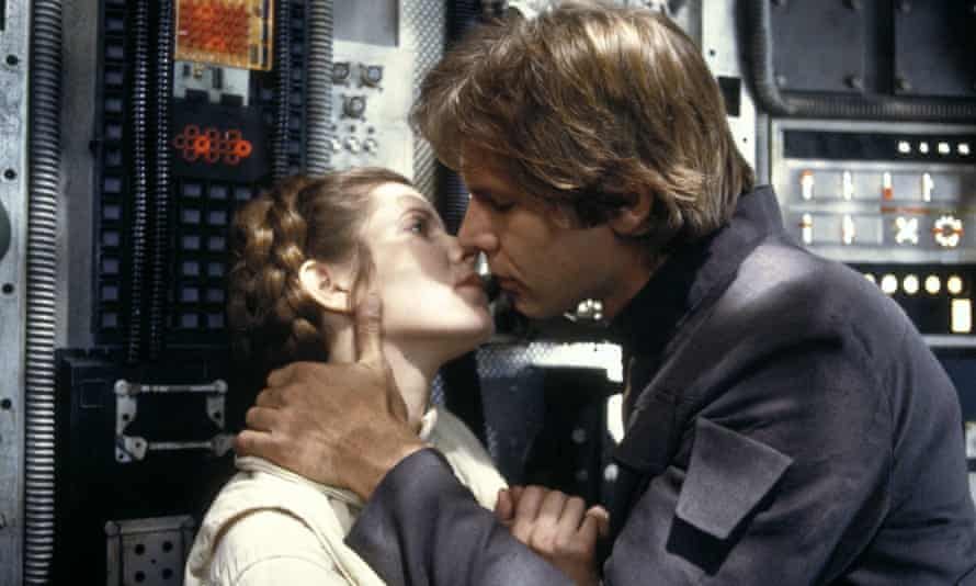 Hello Carrison … Carrie Fisher and Harrison Ford on the set of Star Wars: The Empire Strikes Back.