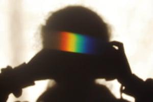 Rainbow Shadow Selfie by Katy Appleton