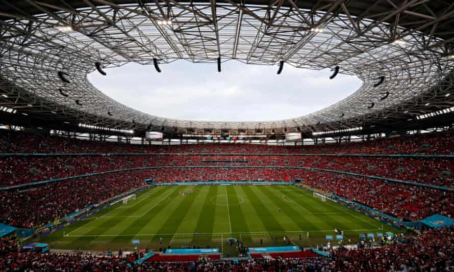 Budapest's Puskas Arena during Hungary's 3-0 defeat to Portugal