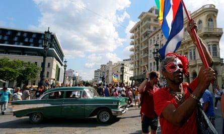 Activists of the LGBTI community march in Havana, Cuba