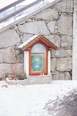 A wayside shrine under the main and only ski slope of Caspoggio in Lombardia