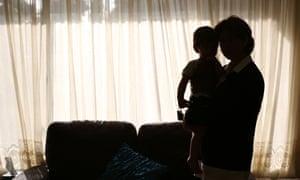 asylum seeker woman and child