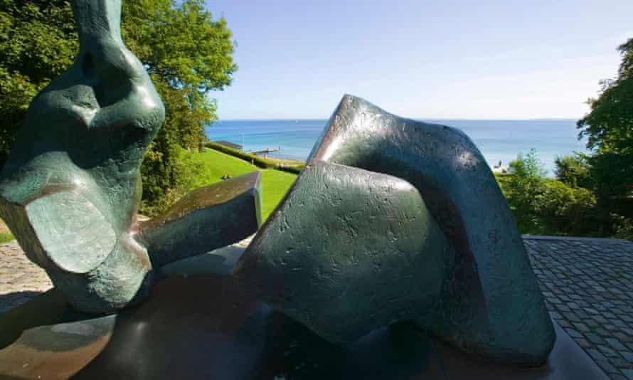 Sculpture in park of the Louisiana Museum of Modern Art, Oresund, Humlebaek, Denmark.