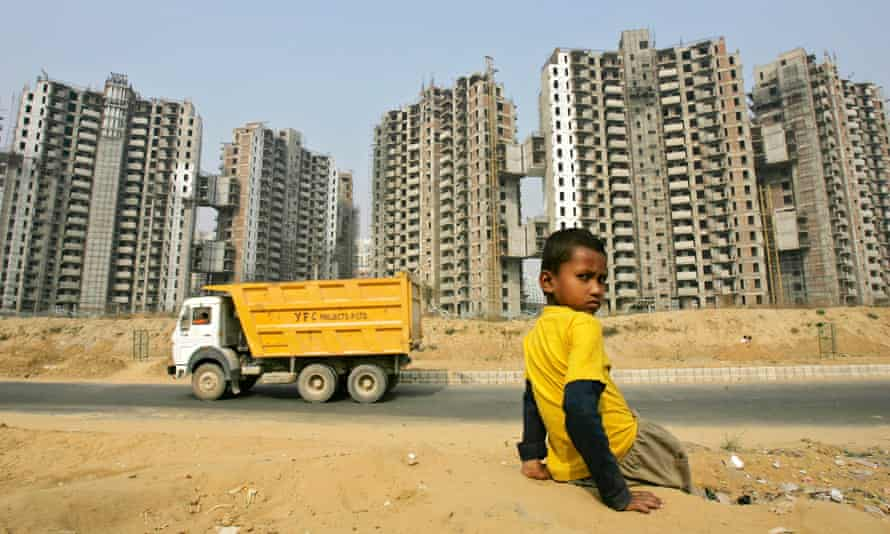 Elites and ghettoes … the privately run city Gurgaon in India.