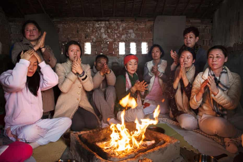 Fire ceremony gathering (2016) Yoga has flourished in Shanghai in recent years, fostering interest for Indian spirituality and traditions. One Indian yogi hosts a fire ceremony for Chinese devotees at a farm on Chongming Island, Shanghai.
