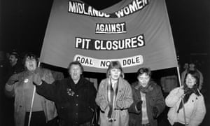 Wives and families march in support of the miners, 1984