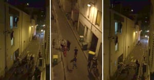 Fleeing from terror: three images taken from a smartphone video by Le Monde journalist Daniel Psenny shows spectators escaping the Bataclan.