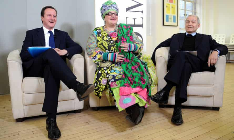 David Cameron, with Kids Company founder, Camila Batmanghelidjh, and Labour's Frank Field. The abuse allegations follow Batmanghelidjh's resignation as chief executive amid questions from the Cabinet Office about the charity's financial accountability.