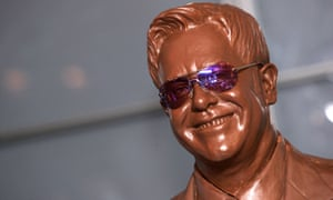 A chocolate effigy of Sir Elton John at Madame Tussauds in 2015.